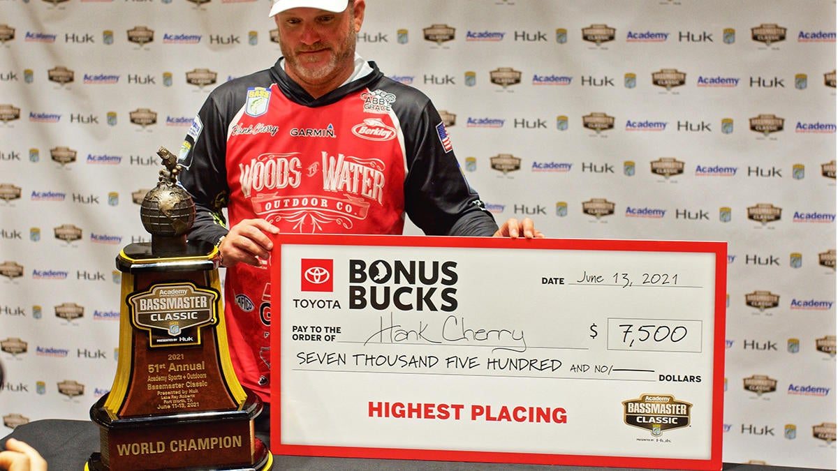 Cherry Collects Classic Trophy and Checks