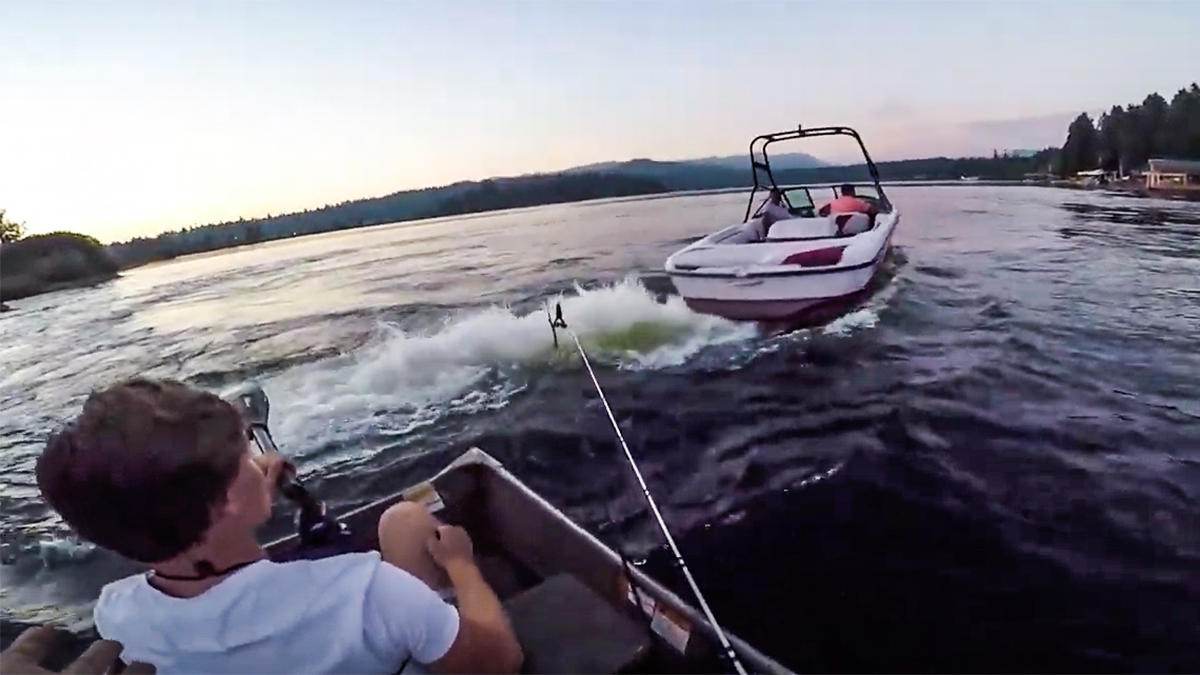 Caught on Video: Wakeboard Boat Harasses Fishermen