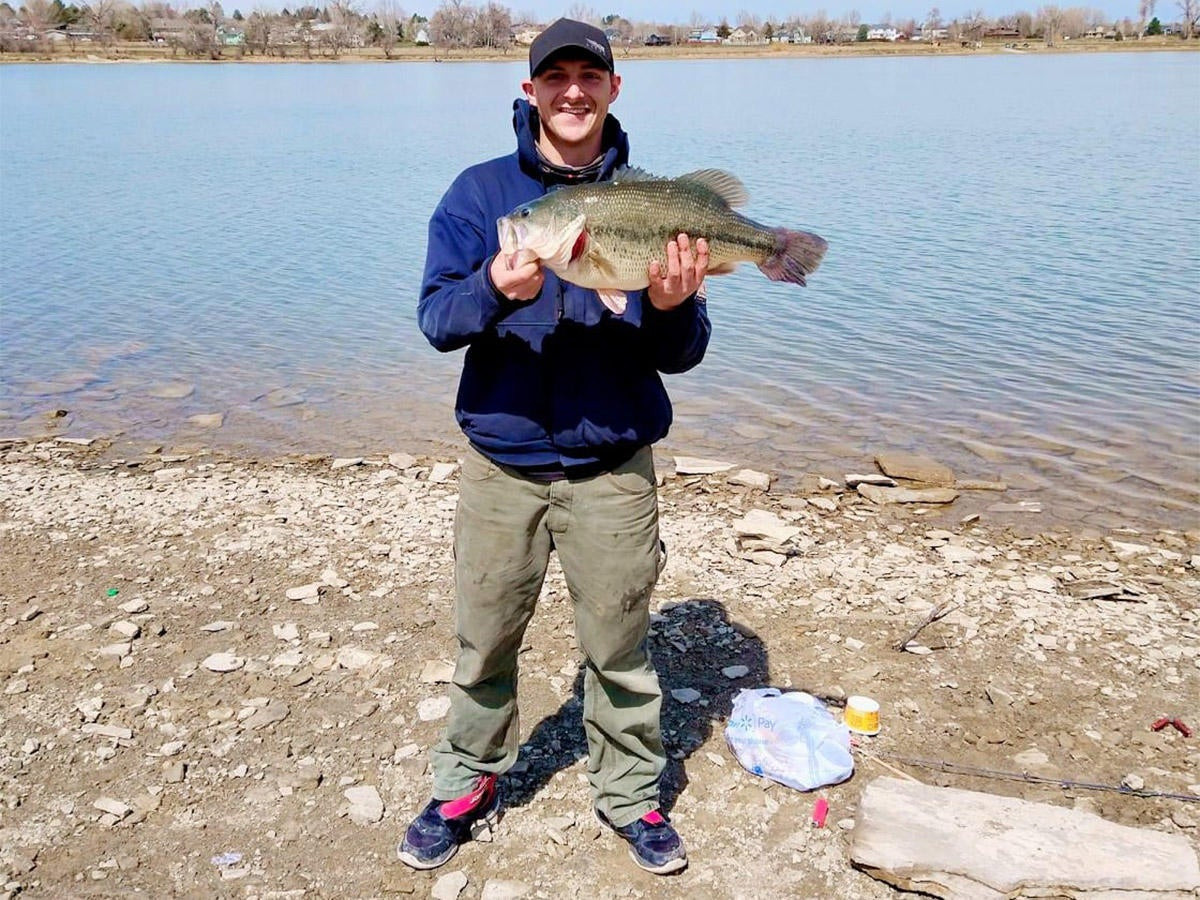 State Record Largemouth Bass Caught While Trout Fishing
