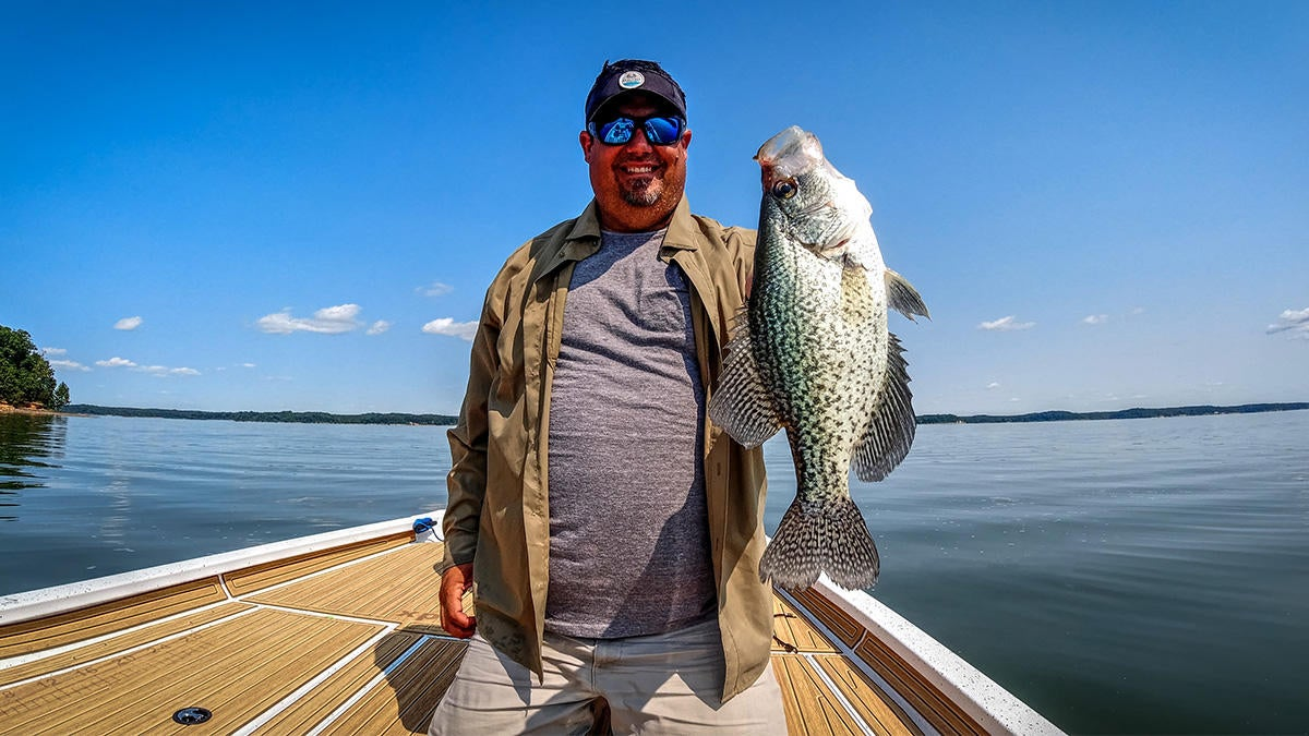 Jasons first crappie in the new boat