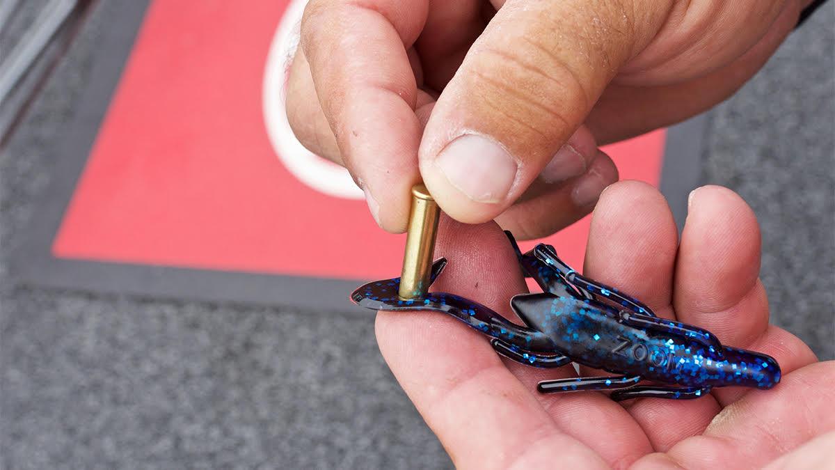 Stamping holes in soft plastics